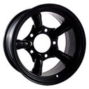 16x10 Black 5 Pipe 5x165.1 ET-32