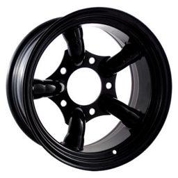 16x10 Black 5 Pipe 5x165.1 ET-32